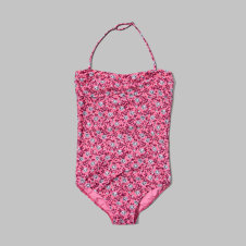 girls floral print one-piece swimsuit