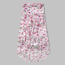 girls floral maxi skirt