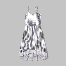 girls stripe midi dress