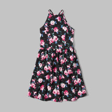 girls high neck skater dress