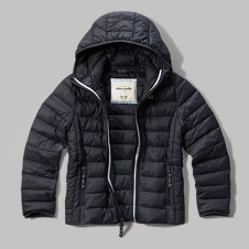 girls hooded lightweight puffer