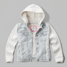 girls sherpa lined denim jacket