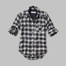 girls plaid flannel pocket shirt