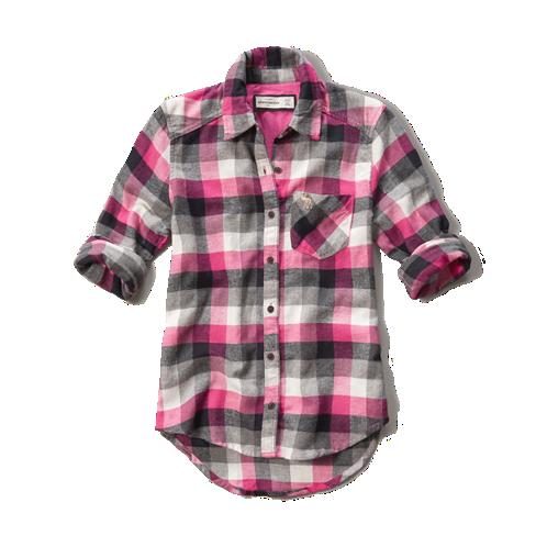 Girls Plaid Flannel Pocket Shirt Girls New Arrivals