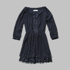 girls embellished peasant dress