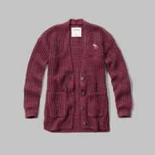 girls shaker-stitch easy sweater