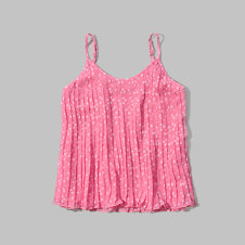girls pleated chiffon cami