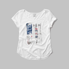 girls star spangled glamour graphic tee