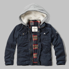 girls hooded utility jacket