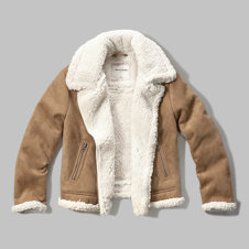 girls faux shearling aviator jacket