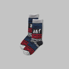 girls a&f patterned socks