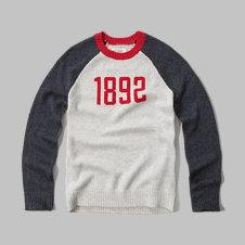 girls graphic baseball sweater