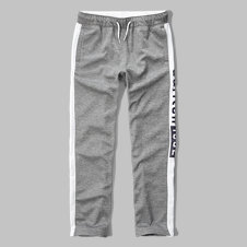 girls contrast logo graphic active pants