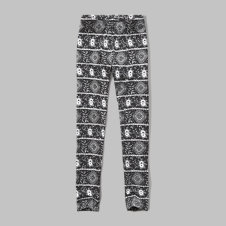 girls patterned jersey leggings