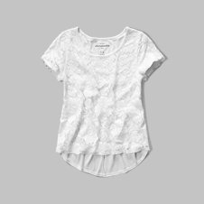 girls lace panel top