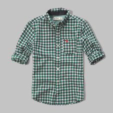 girls plaid poplin shirt