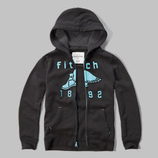 girls fleece-lined logo graphic hoodie