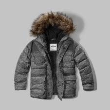 girls sherpa-lined puffer jacket