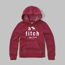 girls applique logo graphic hoodie