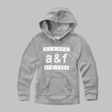 girls long graphic hoodie