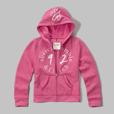girls shine logo graphic hoodie