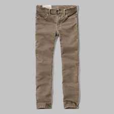 girls a&f skinny five-pocket corduroy pants