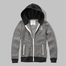 girls glow in the dark full-zip hoodie
