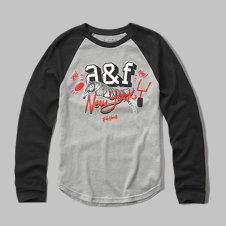 girls logo graphic baseball tee