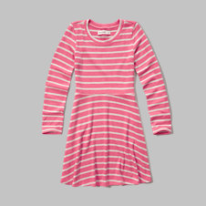girls stripe knit dress