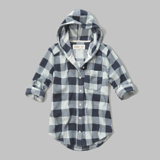 girls hooded fleece shirt
