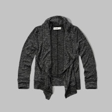 girls snit open cardigan