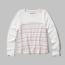 girls patterned swing tee