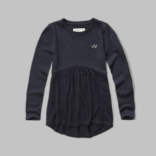 girls swing knit tee