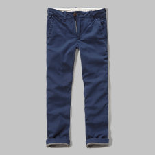 girls a&f slim straight  fleece lined chinos