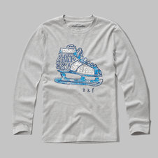 girls snowy days graphic tee