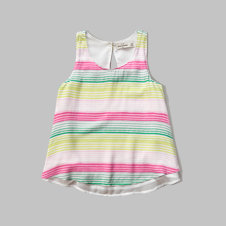 girls tiered print tank