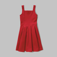 girls pleated neoprene dress
