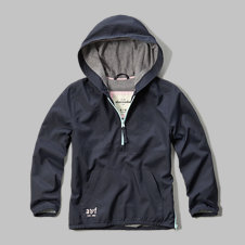girls quarter zip windbreaker