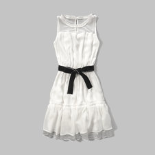 girls chiffon ruffle dress