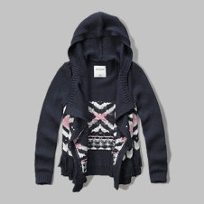 girls hooded blanket cardigan