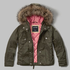 girls shine-luxe parka