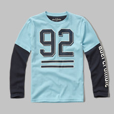 girls varsity layered graphic tee