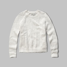 girls lace panel sweater