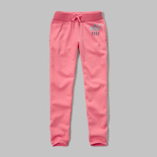 girls shine graphic banded sweatpants