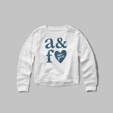 girls lace panel sweatshirt