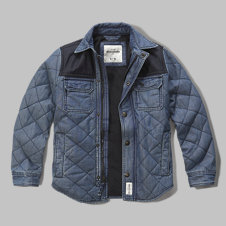 girls quilted chambray shirt jacket