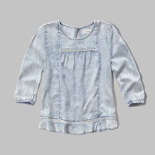 girls easy chambray top