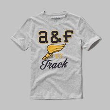 girls embroidered logo graphic tee