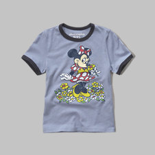 girls cartoon graphic tee