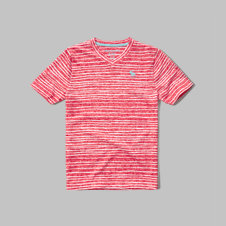 girls striped v-neck tee